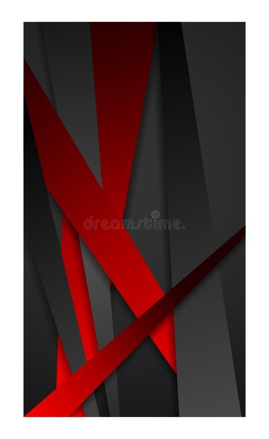 O fundo do sumário da bandeira para o smartphone móvel do papel de parede da Web do smartphone tablet_red elegante ilustração stock
