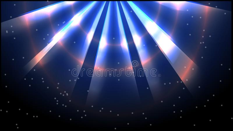 O fundo do universo com luz - ilustração ilustração do vetor