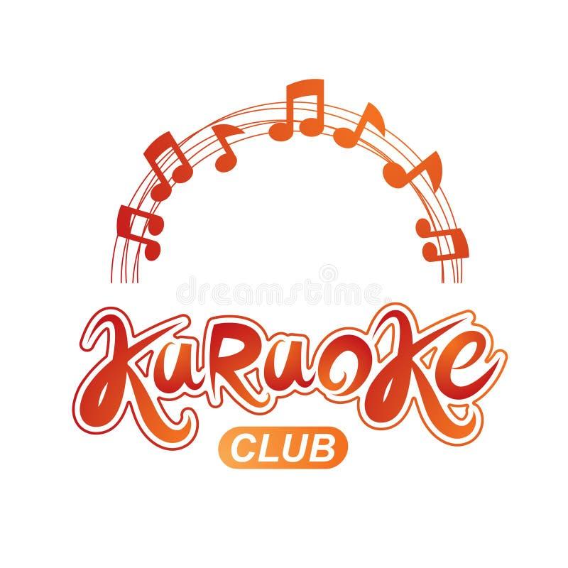 O fundo do vetor do clube do karaoke composto com notas musicais circulares cobre Pode ser usado como o conceito do entreteniment ilustração royalty free