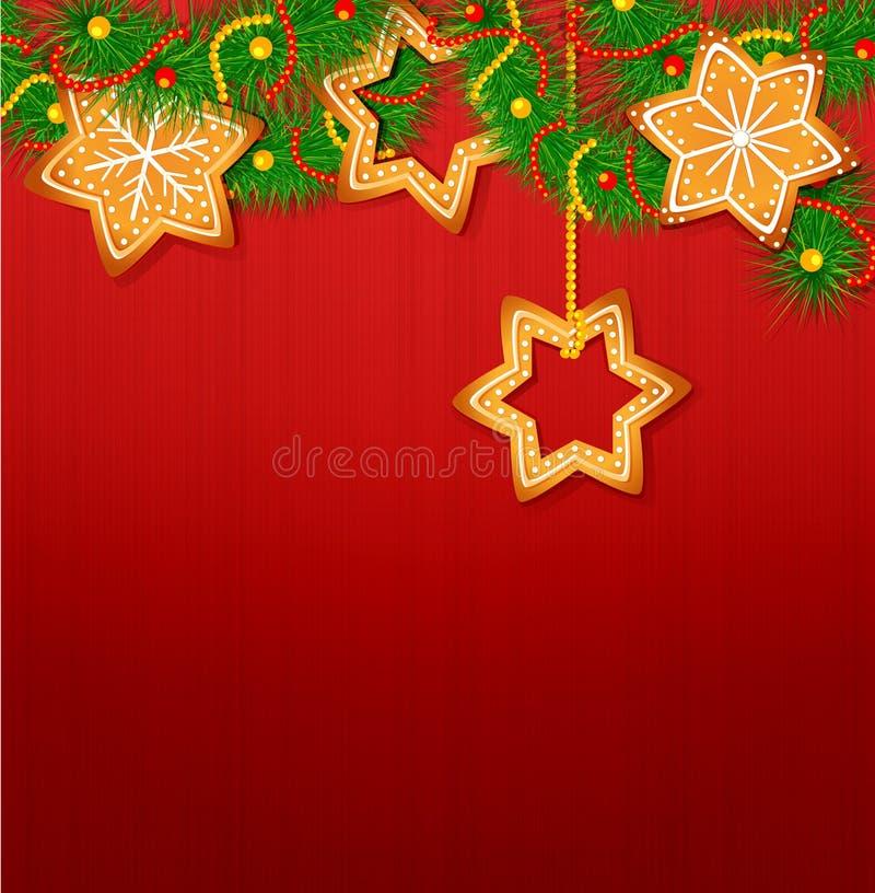 O fundo do vetor do Natal ilustração stock