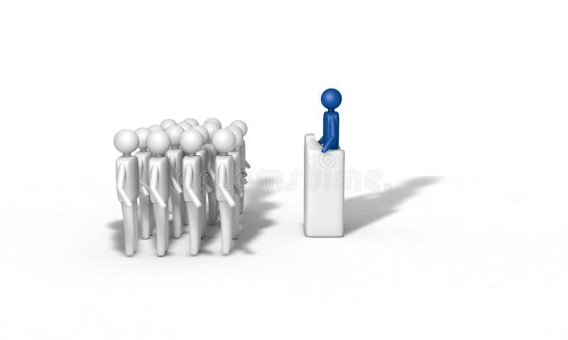 O fundo dos povos fala o conceito, 3d rende ilustração stock