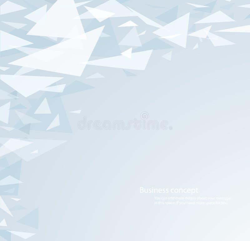 O fundo e o papel de parede claros da forma do triângulo vector a ilustração ilustração royalty free