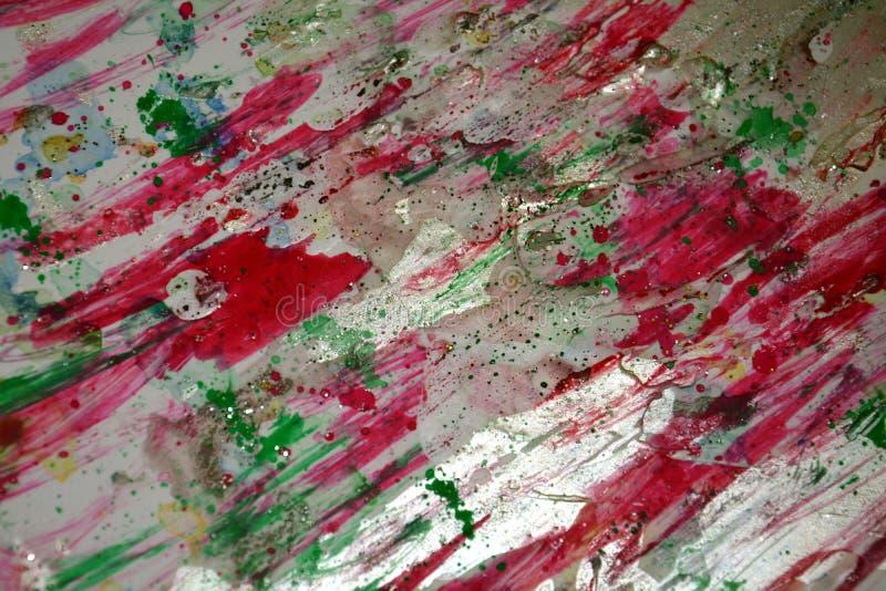 O fundo efervescente prateado verde-claro violeta vermelho, cores cerosos vívidas coloridas, contrasta o fundo criativo fotografia de stock royalty free
