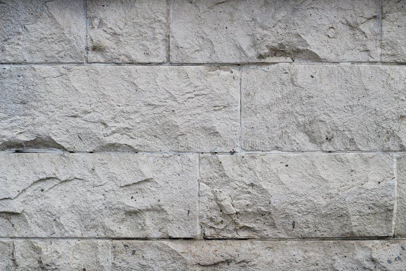 O fundo fez a pedra branca suja do vintage fotografia de stock