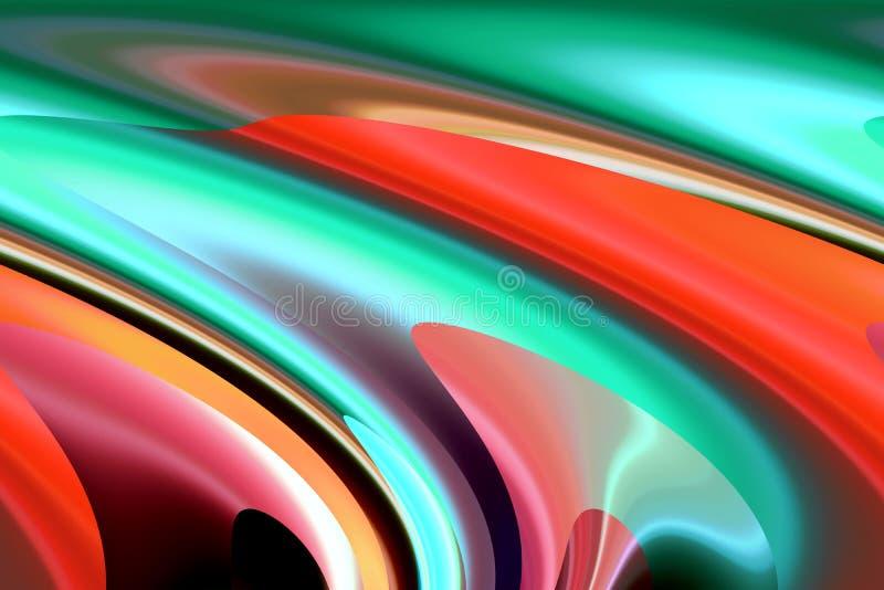 O fundo fosforescente verde alaranjado das máscaras, cores, protege gráficos abstratos Fundo e textura abstratos imagens de stock