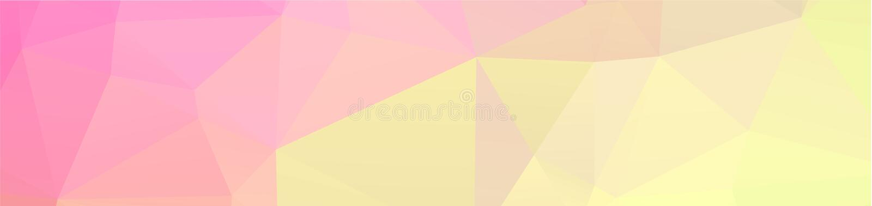 o fundo geométrico do projeto do fundo no estilo do origâmi e o mosaico abstrato com inclinação enchem a cor retângulo ilustração stock