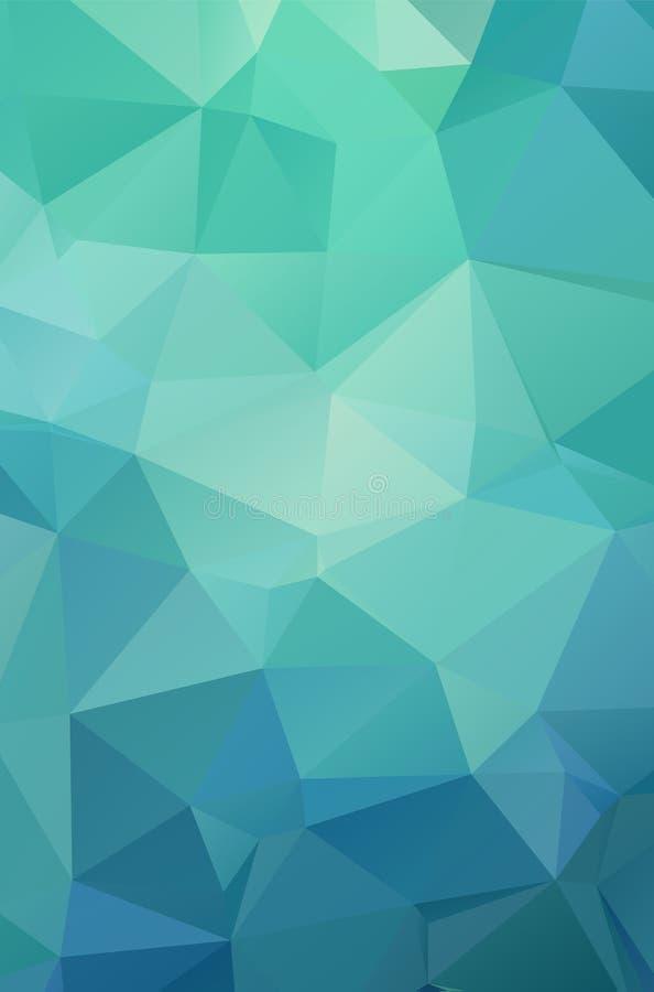 O fundo geométrico verde-claro abstrato, consiste ilustração royalty free