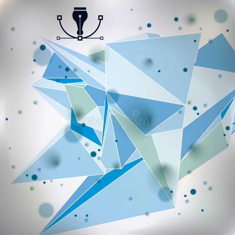 O fundo gráfico da Web com elementos do ponto, sumário transparente colorido do vetor complicou a tampa criada das figuras geomét ilustração stock