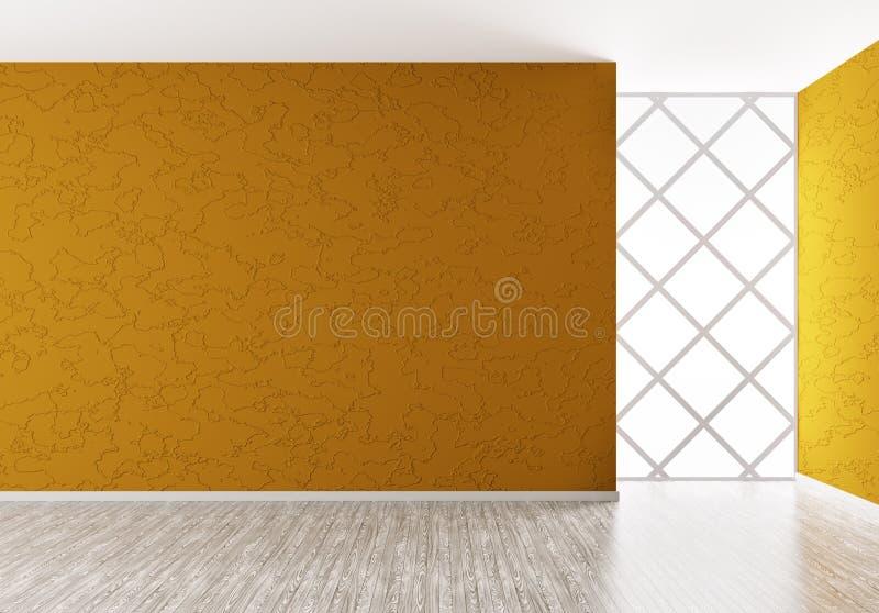 O interior vazio 3d rende ilustração royalty free
