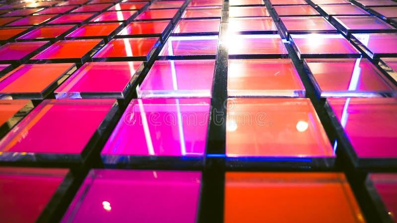O fundo moderno, multi fundo abstrato do vidro da cor, 3D rende, imagem fotografia de stock royalty free