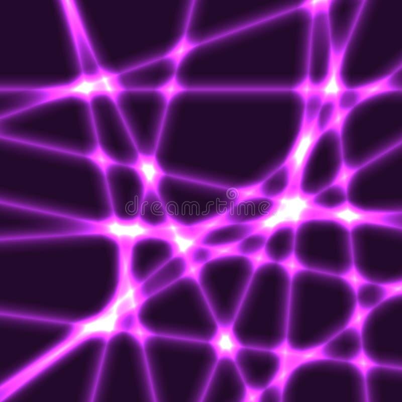 O fundo muito escuro com roxo blured raios do laser ilustração royalty free