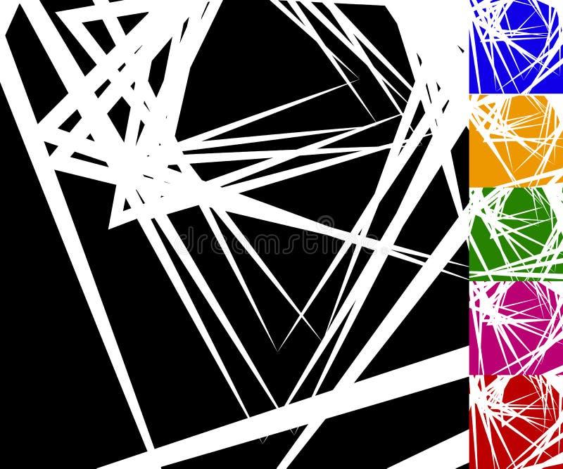 O fundo nervoso, angular ajustou-se em 6 cores ilustração do vetor