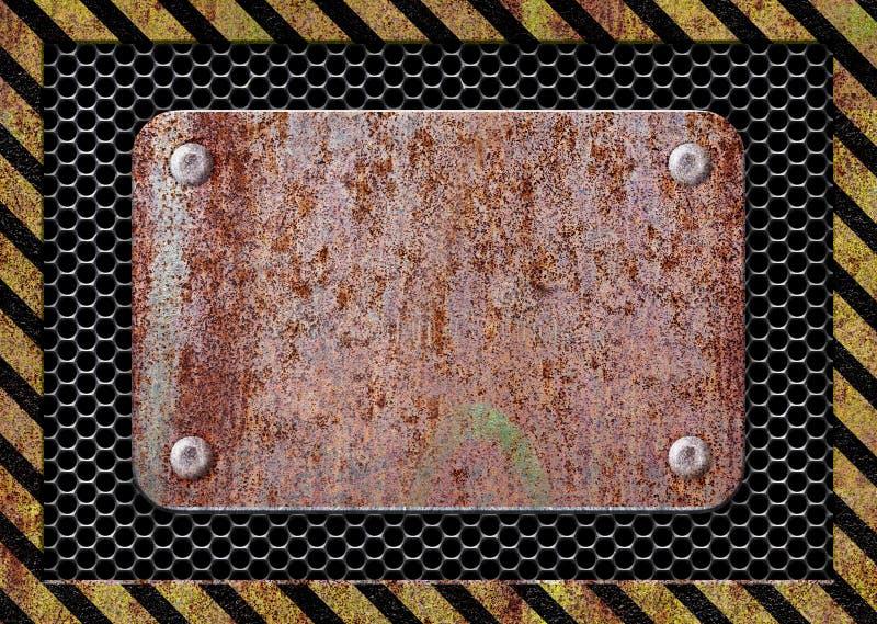 O fundo oxidado da placa de metal corroeu o ferro para o projeto ilustração do vetor