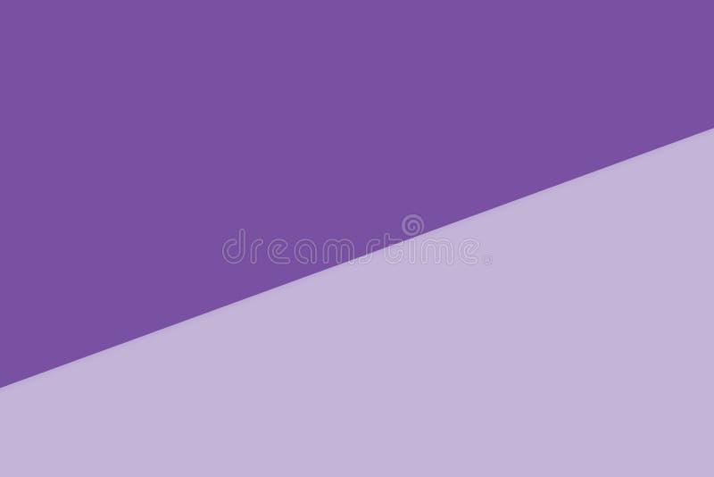 o fundo pastel de papel macio de duas cores roxo, plano mínimo coloca o estilo para a opinião superior da cor pastel elegante dos ilustração royalty free