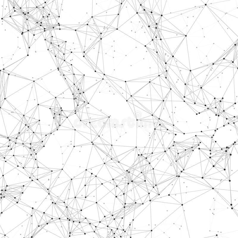 O fundo poligonal de cristal macro do vetor com 3d caótico rende polígono ilustração royalty free
