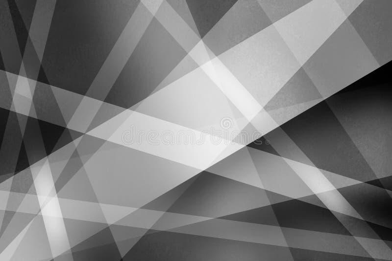 O fundo preto e branco abstrato com linhas textured e as listras em um estilo da arte moderna projetam o teste padrão ilustração do vetor