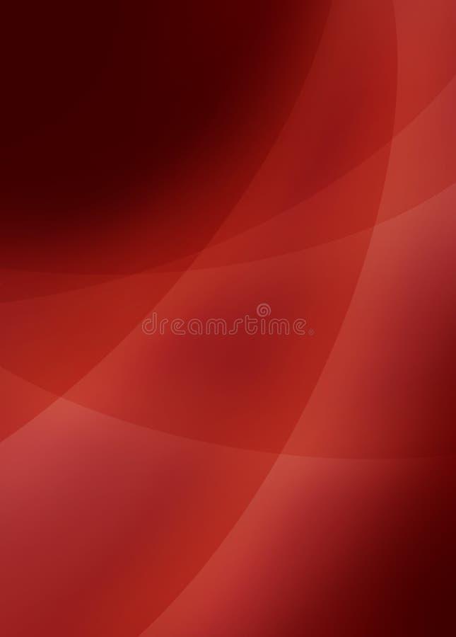 O fundo preto e vermelho abstrato com 3d curvou linhas de cruzamento ilustração royalty free