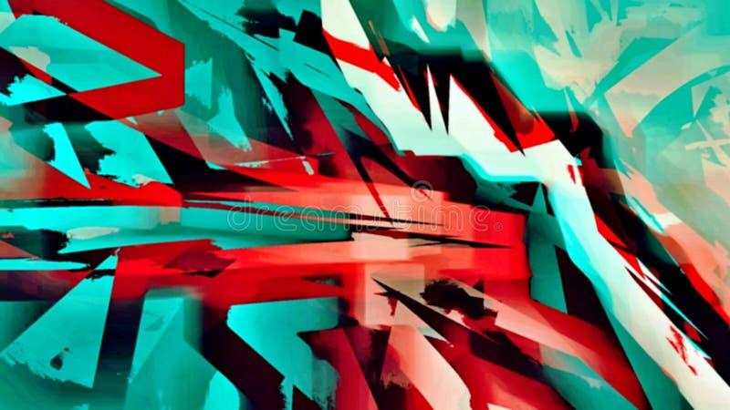 O fundo psicadélico abstrato das manchas borradas caóticas da cor escova cursos de tamanhos diferentes ilustração royalty free
