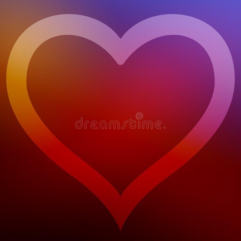 O fundo quadrado com quadro do coração para cartões e outro do Natal deseja Para a cópia e a Web ilustração do vetor