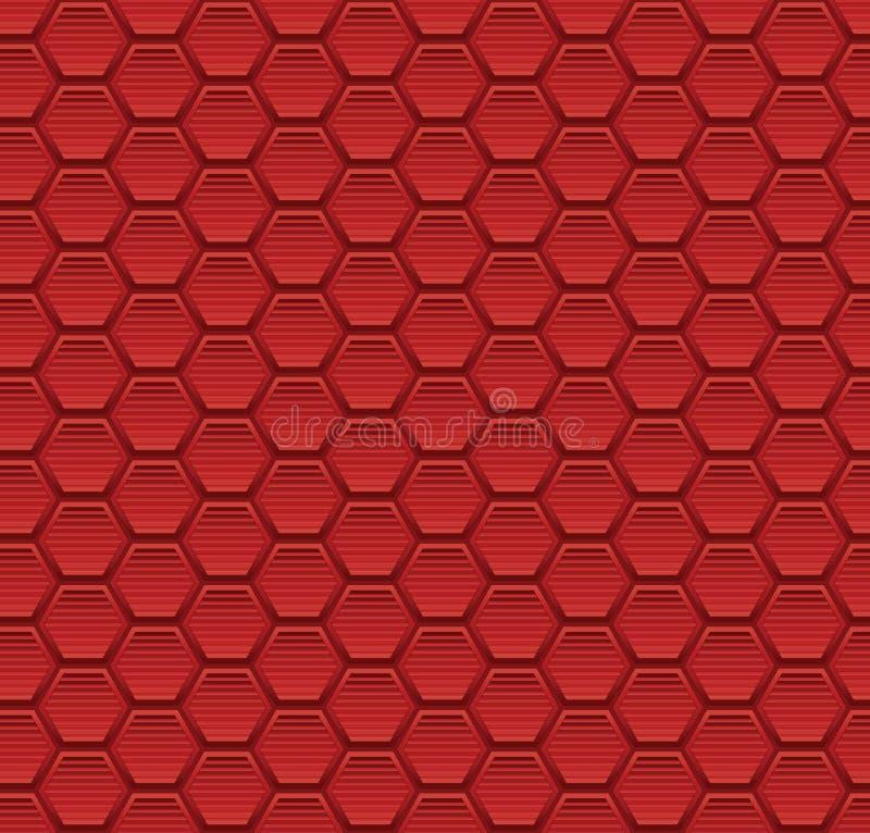 O fundo sem emenda abstrato do teste padrão com elementos do hexágono vector a ilustração ilustração royalty free