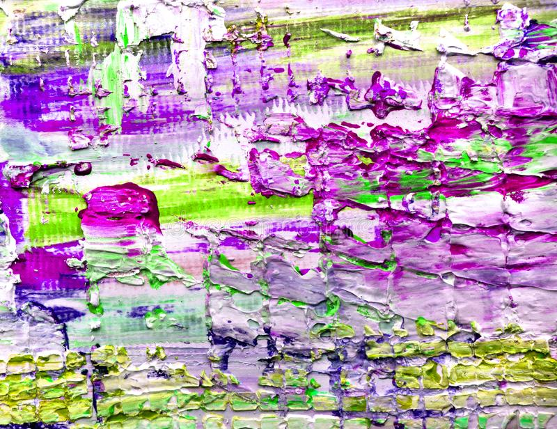 O fundo textured da pintura colorida na lona ilustração royalty free
