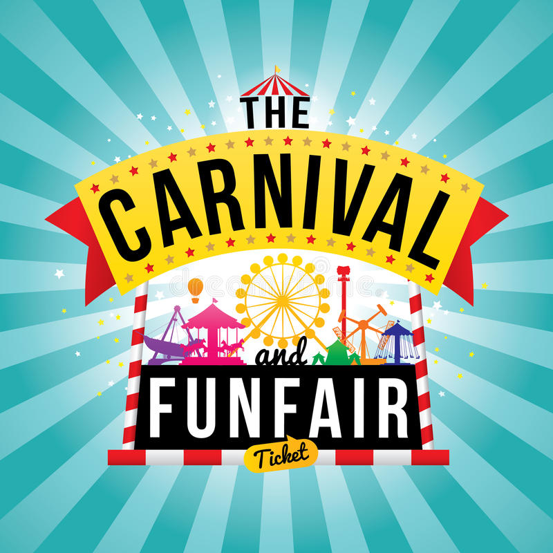 O funfair do carnaval ilustração do vetor