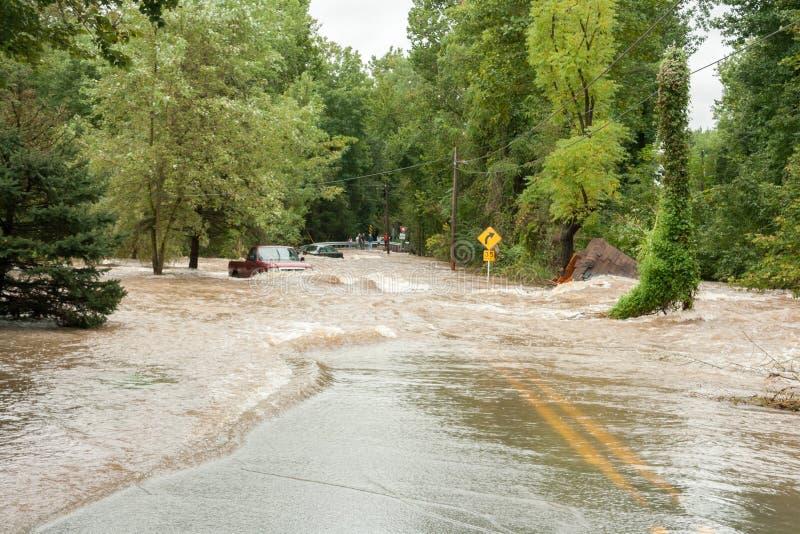 O furacão molha a inundação da terra fotos de stock