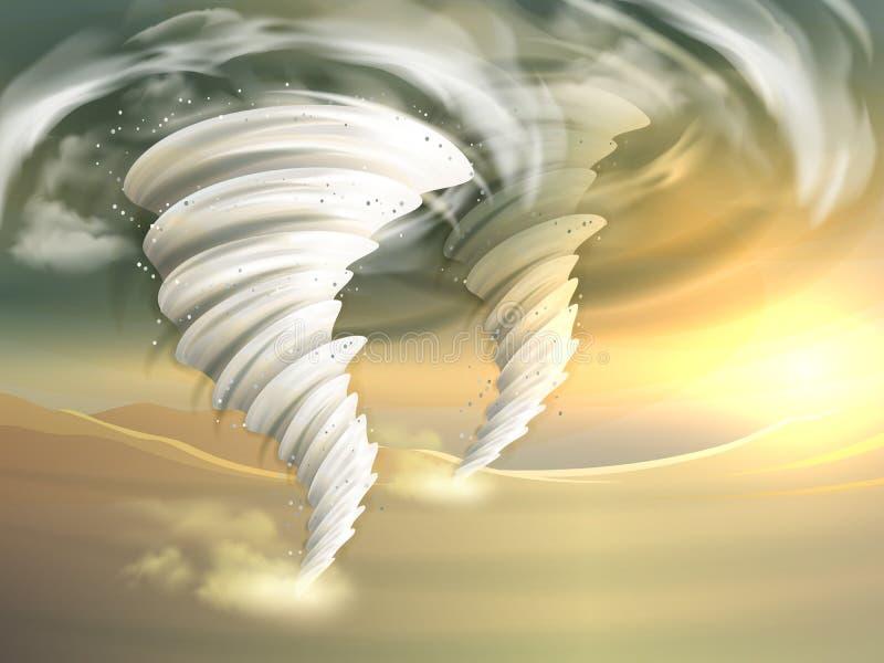 O furacão roda ilustração ilustração stock