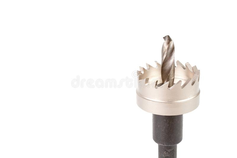 O furo ferramentas do cortador considerou ou do furo foto de stock royalty free