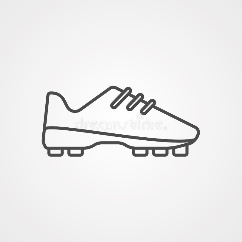 O futebol calça o símbolo do sinal do ícone do vetor ilustração do vetor