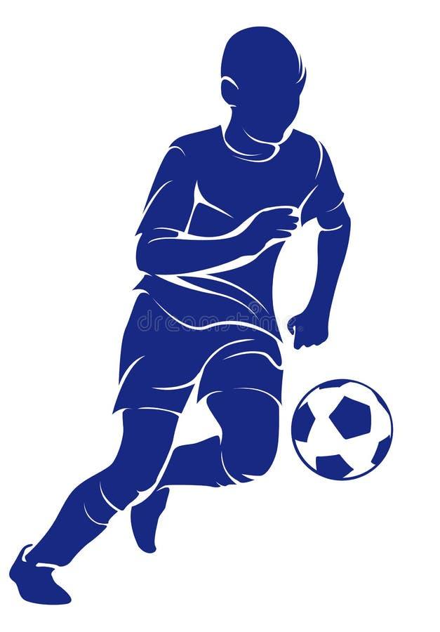 O futebol das brincadeiras ilustração stock