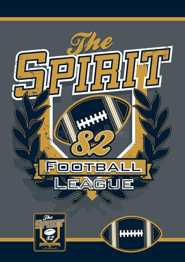 O futebol do espírito ostenta a liga ilustração royalty free