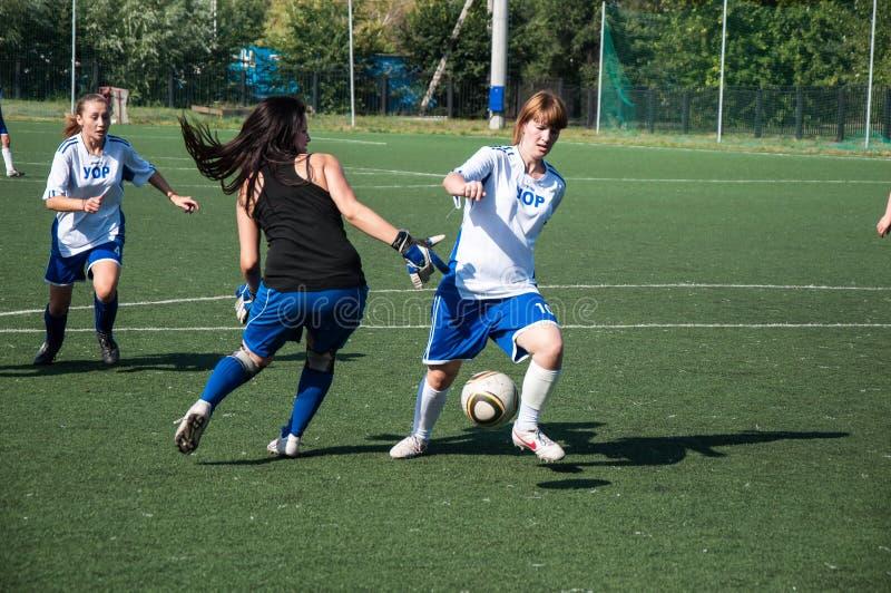 O futebol do jogo das meninas, fotos de stock royalty free