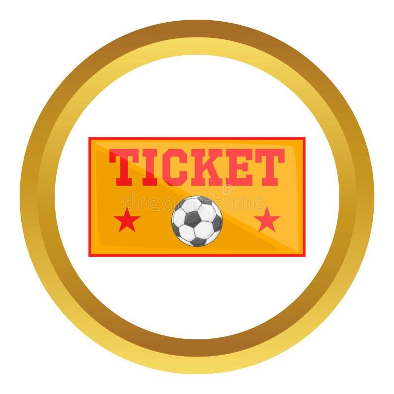 O futebol Tickets o ícone ilustração royalty free