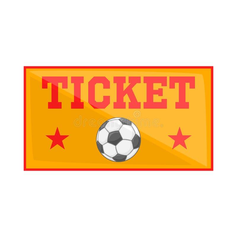 O futebol tickets o ícone, estilo dos desenhos animados ilustração royalty free