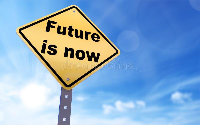 O futuro é agora sinal ilustração stock