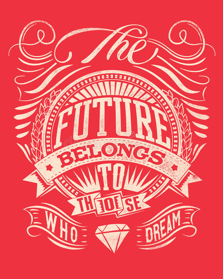 O futuro ilustração stock
