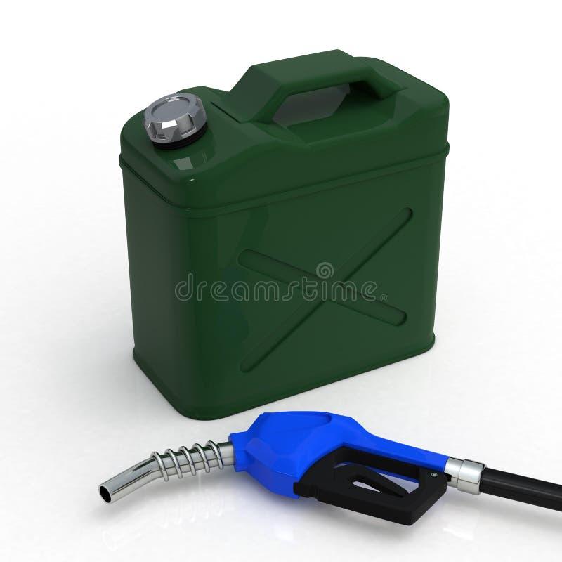 O gás pode e bocal ilustração do vetor