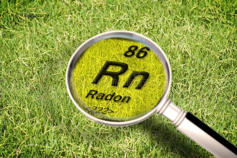 O gás radioativo perigoso do rádon sob a terra - conceito mim imagem de stock royalty free