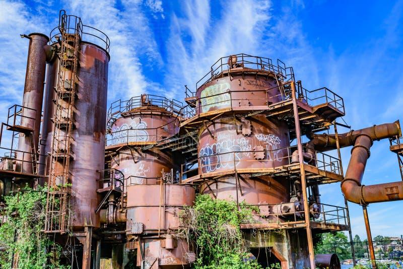 O gás trabalha o parque Seattle fotos de stock