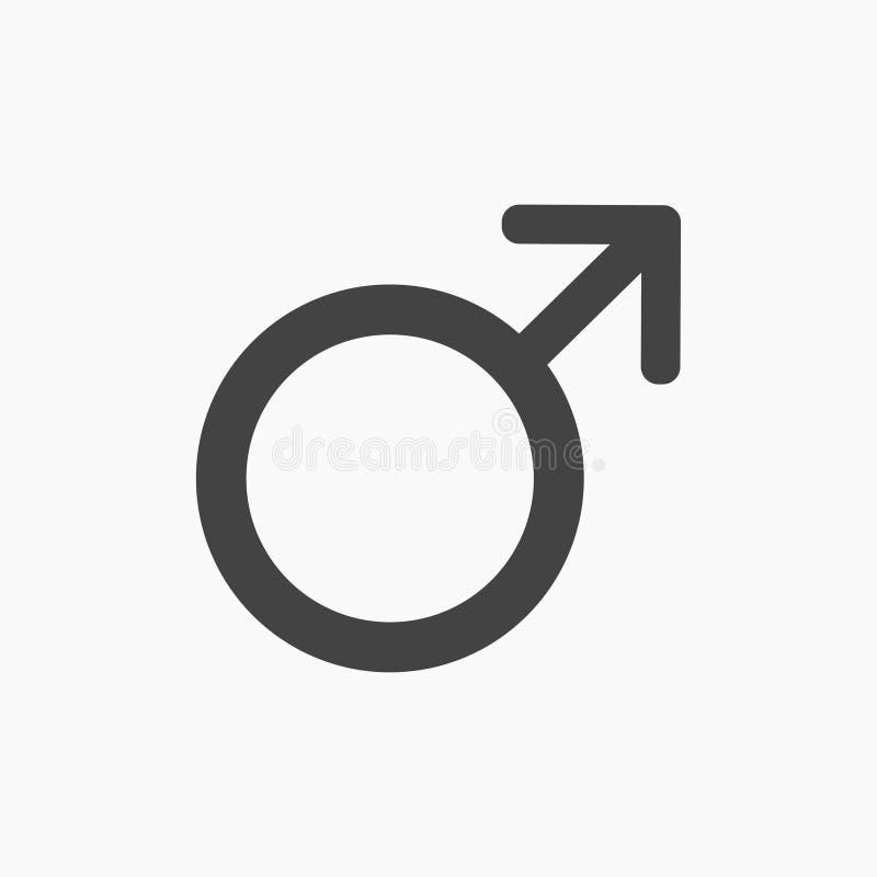 O gênero masculino preto, estraga o ícone liso ilustração stock