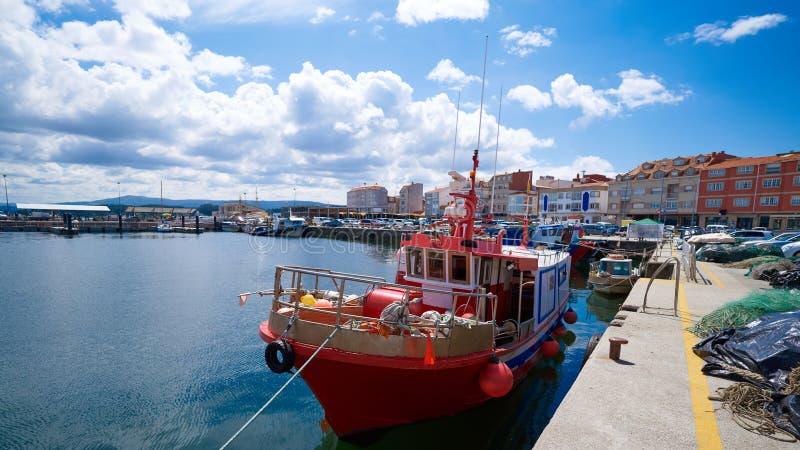 O gaju Ogrove port z łodziami rybackimi Pontevedra obraz royalty free