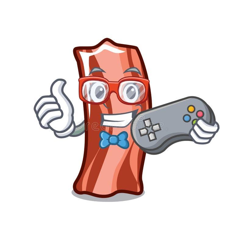 O Gamer marca o estilo dos desenhos animados da mascote ilustração stock