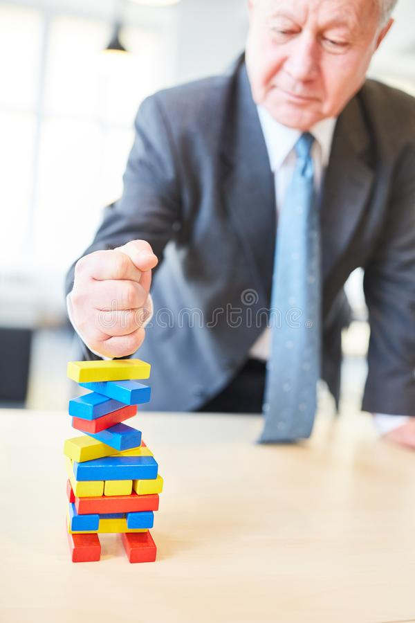 O gerente mostra a determinação e a força imagem de stock royalty free