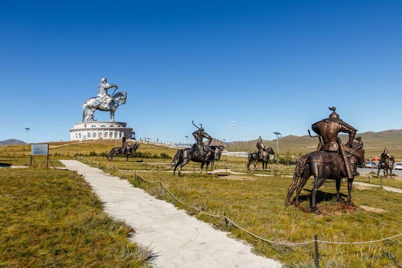 O gigante Genghis Khan fotografia de stock royalty free