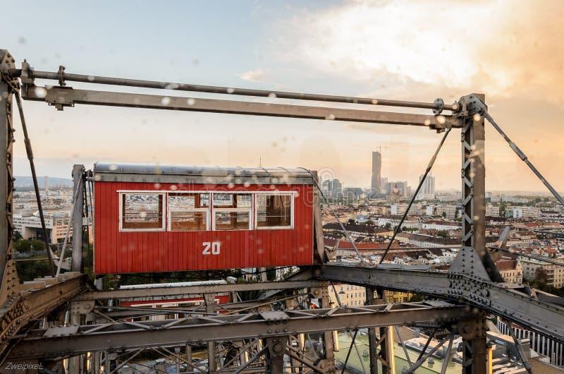 O gigante roda dentro Viena imagens de stock