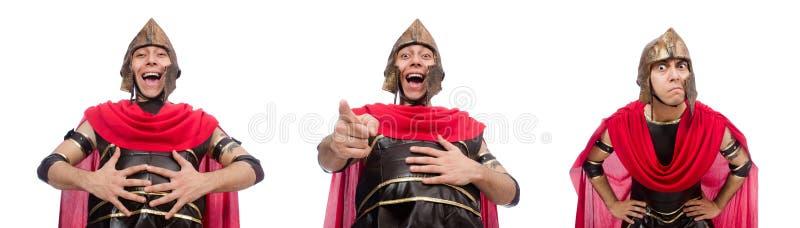 O gladiador isolado no branco imagem de stock royalty free