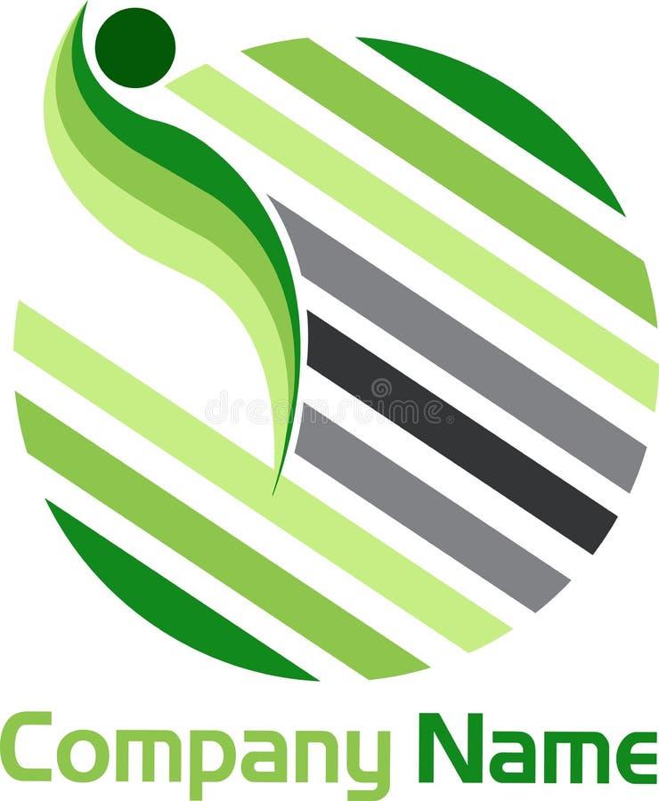 O globo alinha o logotipo ilustração do vetor