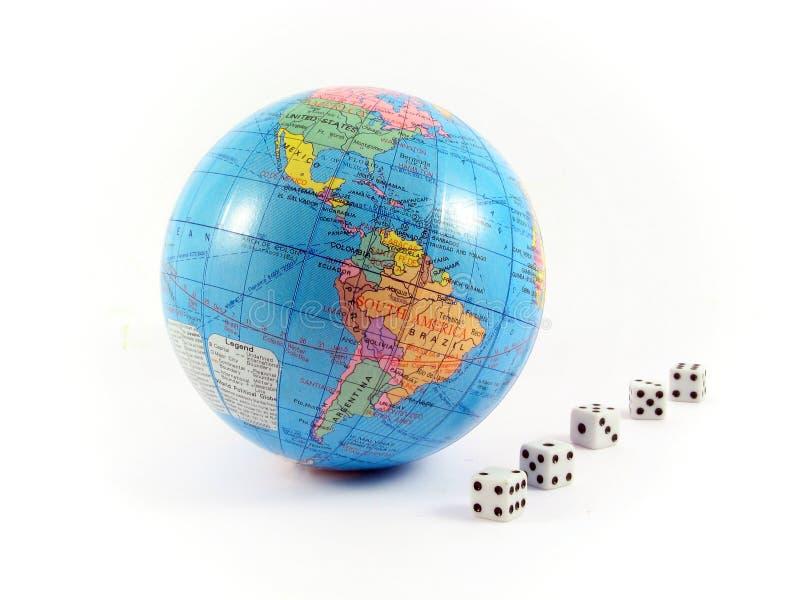 O globo cuba a terra do planeta do jogo foto de stock royalty free
