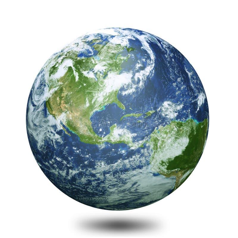 O globo 3d da terra rende ilustração stock